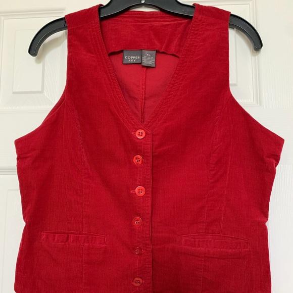 Copper Key Jackets & Blazers - Copper Key Vest - sz XL (juniors)